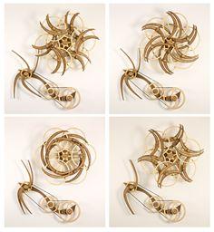 Kinetic Sculpture by David C. Roy - Wood That Works | Kinetic Art - Variation IISun - 4 views-