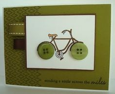 Totally gonna make my own greeting cards using buttons as bike wheels! <3
