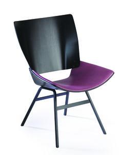 Shell lounge chair LILI RADU EDITION , rose taupe leader seat