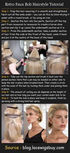 Faux Bob Hairstyle | Beauty Tutorials