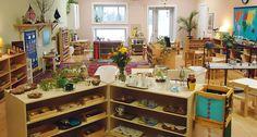 A beautiful Montessori classroom