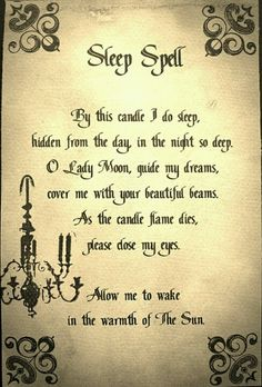 Sleep Spell For The Book Of Shadows From The Green Witch @kathyjacobson