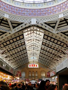 Mercado Central. Central Market. Valencia, Spain.  Purchased fruit here!  An eye opening experience!