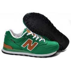 Hot New Balance 574 Womens Green Brown Runnings Foot Cheap Sale 2015