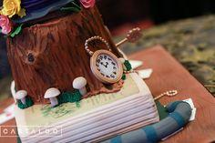 Samantha in Wonderland: A Sweet 16 Celebration | Photos by: Castaldo Studios | Alice in Wonderland sweet sixteen birthday cake by Party Flavors Custom Cakes