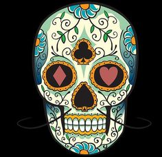 Want to pull off the perfect Halloween look? Take inspiration from our Mexican sugar skull makeup ideas and rock a truly original Halloween makeup look. Mexican Skull Tattoos, Sugar Skull Tattoos, Mexican Skulls, Mexican Art, Mexican Skeleton, Sugar Skull Makeup, Sugar Skull Art, Sugar Skulls, Candy Skulls