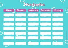 Schulanfang: Stundenplan für Mädchen zum gratis Download ⋆ einfach Stephie: http://einfachstephie.de/2015/08/12/schulanfang-stundenplan-zum-gratis-download/