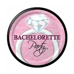 Bachelorette Party Diamond Ring Plates – pack of 8