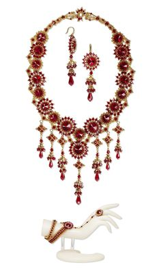 Jewelry Design - Bib-Style Necklace, Cufflet and Earring Set with Swarovski Crystal and Seed Beads - Fire Mountain Gems and Beads