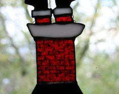Stained Glass Christmas Suncatcher by SingularArt on Etsy