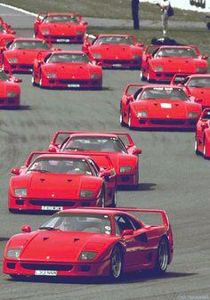 So many Ferrari F40 !