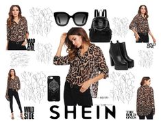 """""""Leopard print blouse - SHEIN"""" by nela-queen ❤ liked on Polyvore featuring Nasty Gal, Gucci, Blume and Fifth & Ninth"""