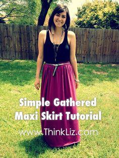 Simple Gathered Maxi Skirt by elizabethmariecarroll, via Flickr