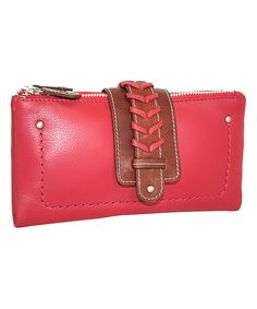 Look at this Red Leather Double Trouble Wallet on #zulily today!