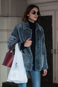 Alexa Chung out and about in Soho, New York, December 10th, 2015.