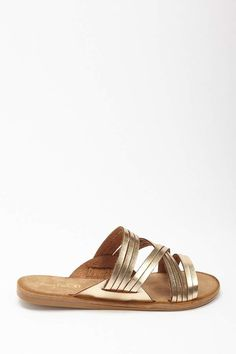 ecb3e9410236 Forever 21 Faux Leather Strappy Slide Sandals