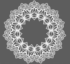 Free White Lace Pattern Ornament Vector » TitanUI