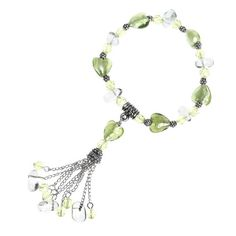GREEN HEART OF GLASS BRACELET