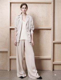 ATM Anthony Thomas Melillo Pre-Fall 2016 Collection Photos - Vogue  ...Great silhouettes and a really cool-casual pants suit but DO NOT UNDERSTAND the blah oatmeal color...