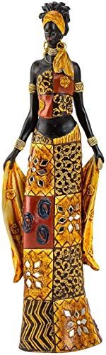 Lifestyle /& More Sculpture Moderne Personnage de Femme Africaine Femme Or//Brun Hauteur 40 cm /