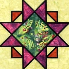 Pretty cool stained glass look --  Quilt Patterns Free Quilt Patterns eQuiltPatterns.com: Stained Glass Continual Expansion Quilt Block