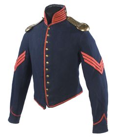 Artillery shell jacket w/brass shoulder scales, - Cowan's Auctions