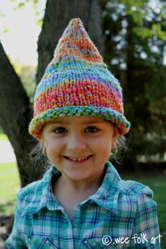 Pointed pixie or gnome hat free pattern