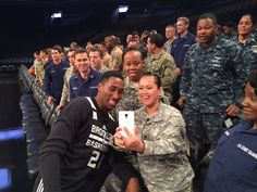 Salute #HoopsForTroops with @BrooklynNets rookie Rondae Hollis-Jefferson!