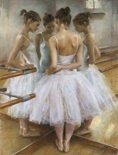 Women Painting by Vicente Romero Redondo