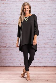 """Looking Lovely Tunic, Black"" Looking lovely is easy in this tunic!! Mainly because the tunic itself is in fact lovely!!  #shopthemint #newarrivals"