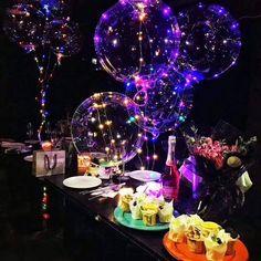 Light Up Bubble Balloons Luminous LED Baby Shower Birthday Party Decor Light Up Balloons, Balloon Lights, Bubble Balloons, Led String Lights, Air Balloon, Bubbles, Bachelorette Party Decorations, Graduation Party Decor, Birthday Party Decorations
