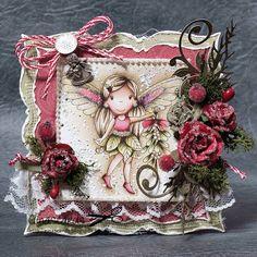 The Paper Nest: Christmas Angel Avery #ginaknott @ginaknott #handmadecards #distressinks