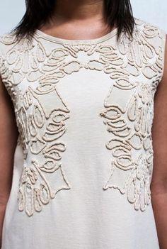 Alabama chanin embroidered organic cotton rossa dress 2