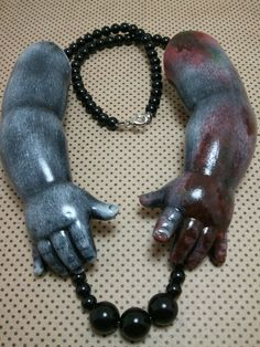 The Original OOAK Wearable Art Macabre Black by GhastlyGoverness, $40.00