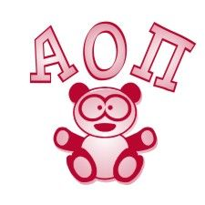 Alpha Omicron Pi Mascot Screen Printed T-Shirt Design SALE $16.95. - Greek Clothing and Merchandise - Greek Gear®