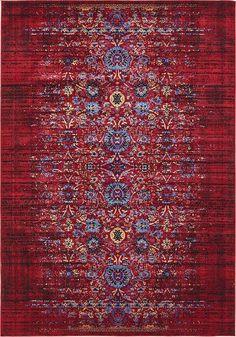 Burgundy Renaissance Area Rug-rugs.com