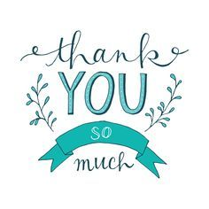 Hand Lettered Thank You Cards on Behance