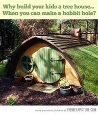 Why build your kids a treehouse when they can have a hobbit hole?