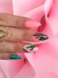 Nail Art Violet, Purple Nail Art, Pink Nails, Nail Art Designs, Long Nail Designs, Nail Art Cactus, Judy Nails, Western Nails, Nail Desighns