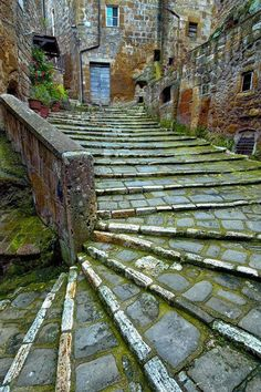 Ancient Stairs, Tuscany Italy- three days in Tuscany, three in Milan