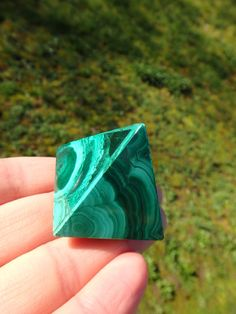~ADORABLE RICH GREEN MALACHITE PYRAMID CARVING~  AVAILABLE In the SHOP HERE: