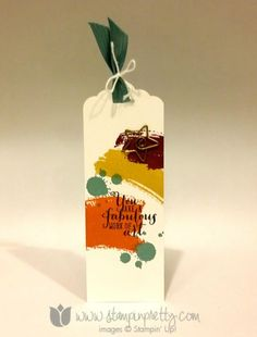 Stampin up stamping pretty demonstrator blog bookmark scalloped tag topper punch work of art