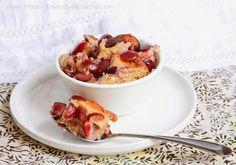 Cherry Protein Cobbler - Protein Treats by Nicolette 150 calories, 9g protein, 12.1g carbs, 5.4g sugar, 8g fat, 2.2g fiber