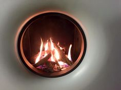 The gas B-fire 50 round with undercover frame from Tulp. Gas Fires, Undercover, Frame, Home Decor, Picture Frame, Decoration Home, Room Decor, Frames, Home Interior Design