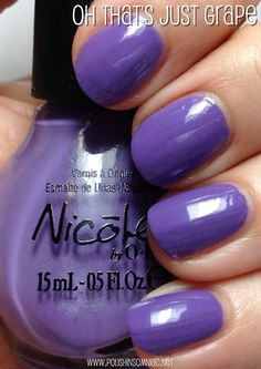 Nopi oh that s just grape Opi Nails, Nail Manicure, Nail Polishes, Nail Polish Blog, Nail Tips, Nail Ideas, Nicole By Opi, Daily Nail, Easy Nail Art