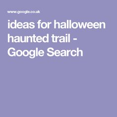 ideas for halloween haunted trail - Google Search