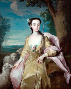 The Athenaeum - Anne Fairfax as a Shepherdess (Philipe Mercier - ) German painter living in England, c. 1750