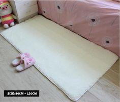 Area Carpet White Carpet/Floor Rug/ Living room carpet/Area Rug 80*120cm #HUAHOO