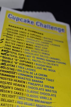 Cupcake Challenge - what a neat idea!