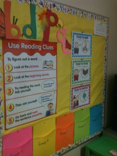 Bulletin Board next to my Guided Reading Table!